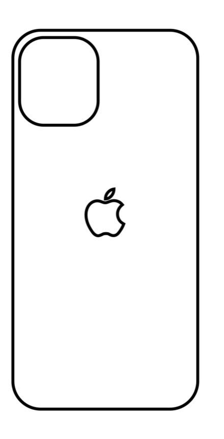 Hydrogel - zadná ochranná fólia - iPhone 12 mini - typ 5