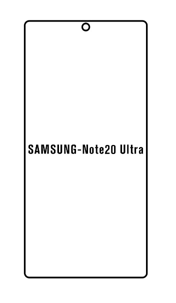 Hydrogel - Privacy Anti-Spy ochranná fólia - Samsung Galaxy Note 20 Ultra, typ 2