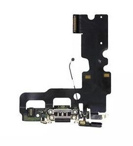 Apple iPhone 7 Plus - Čierny nabíjací konektor + flex kábel s mikrofónom