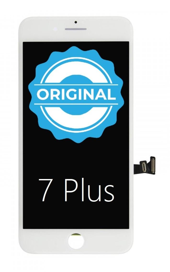 Apple ORIGINAL Biely LCD displej iPhone 7 Plus + dotyková doska