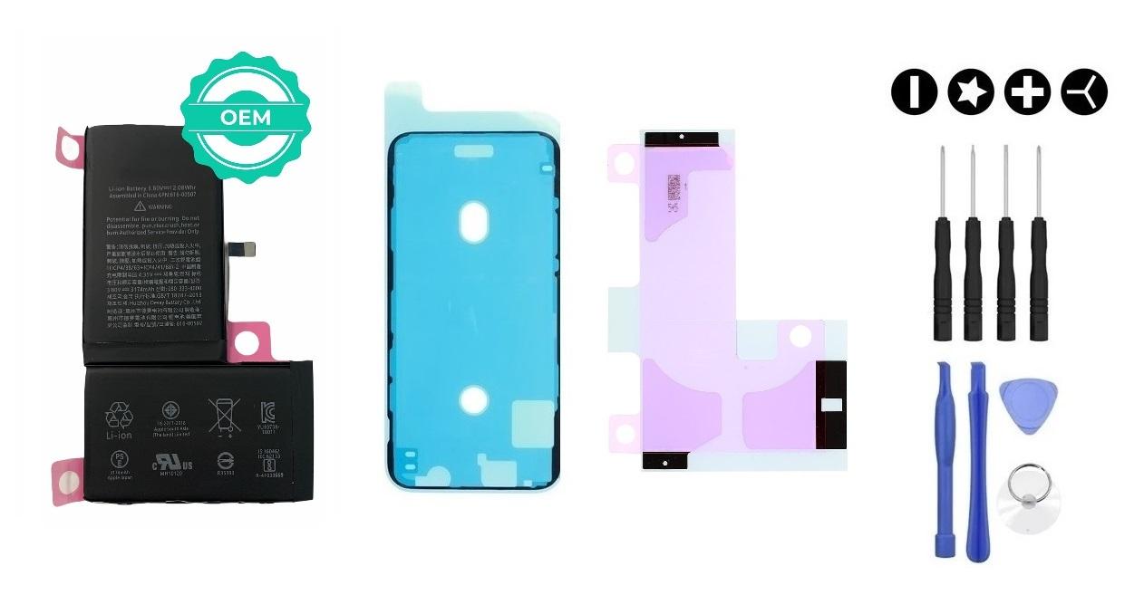 MULTIPACK - OEM Batéria iPhone X + lepka pod displej + lepka pod batériu + sada náradia