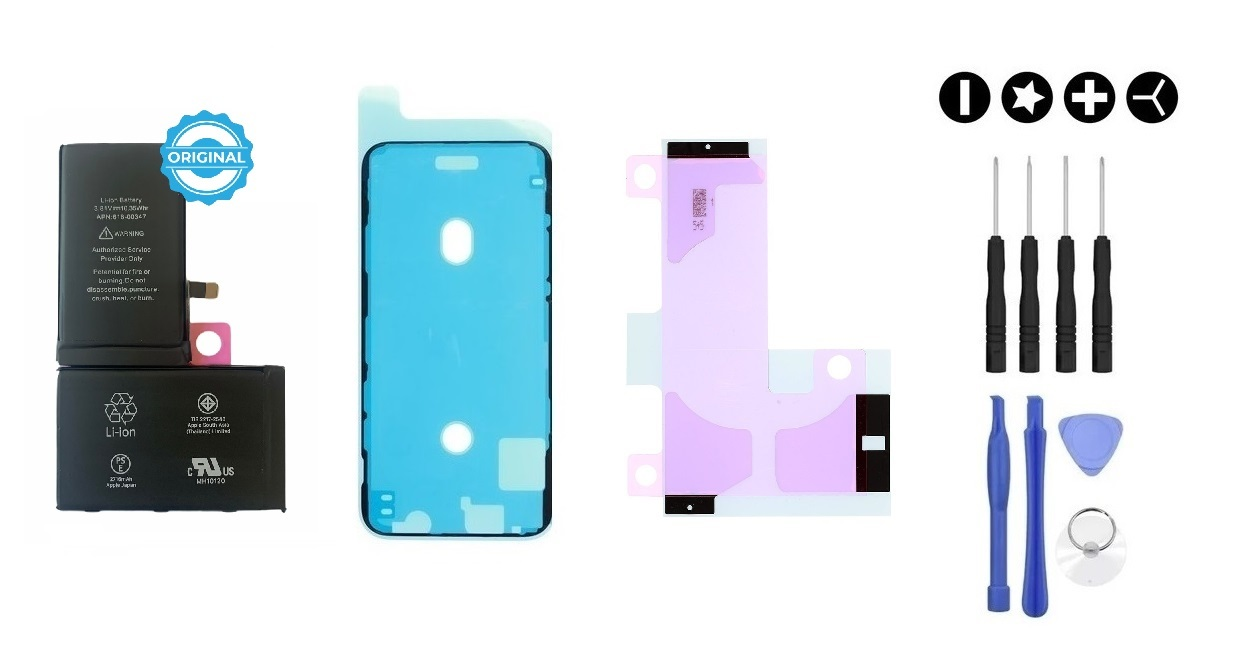 Apple MULTIPACK - Batéria iPhone X + lepka pod displej + lepka pod batériu + sada náradia