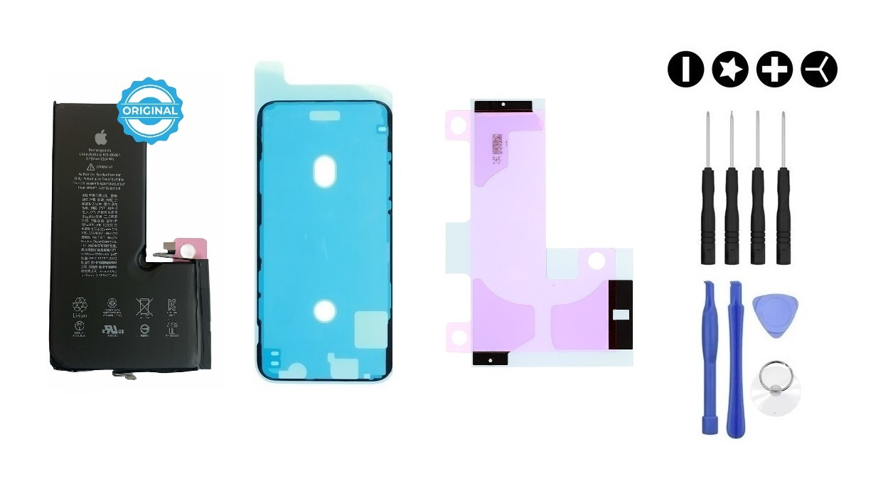 Apple MULTIPACK - Batéria iPhone XS + lepka pod displej + lepka pod batériu + sada náradia