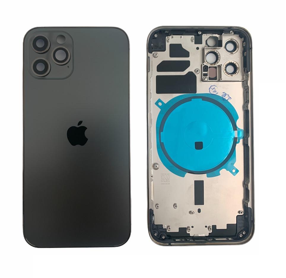 Apple iPhone 12 Pro Max - Zadný housing (space grey - šedý)