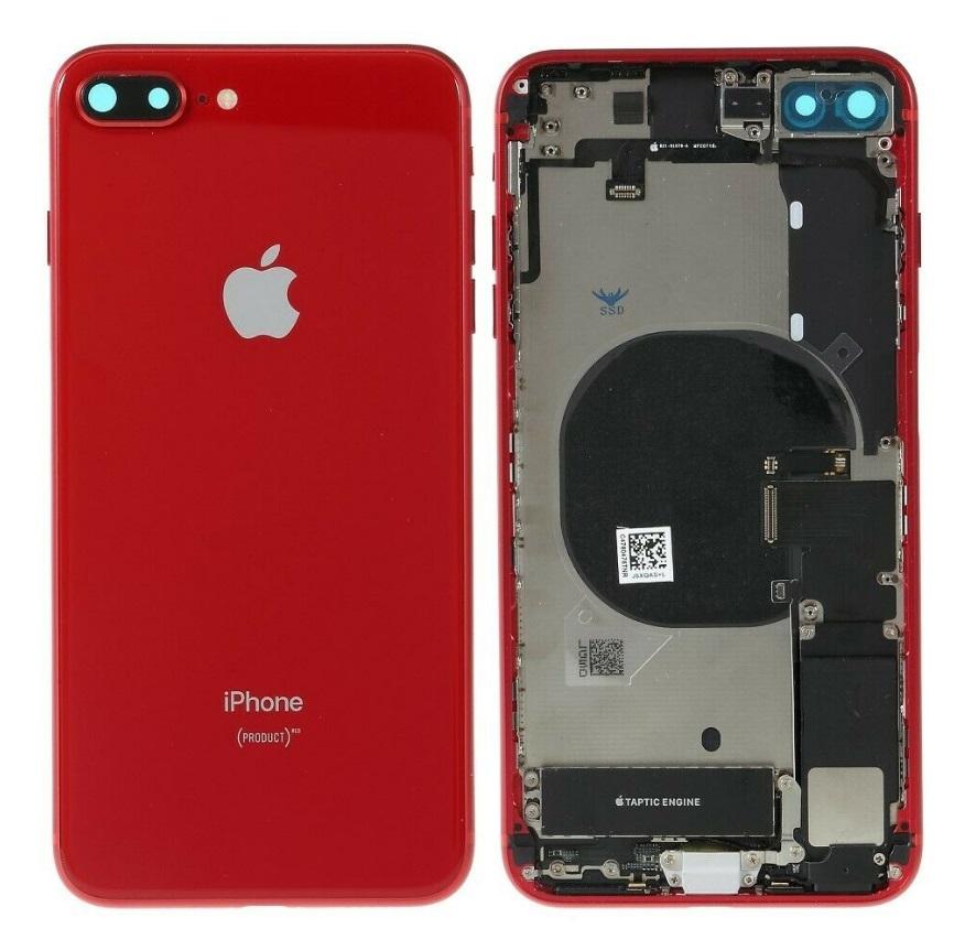 Apple iPhone 8 Plus - Zadný kryt - housing iPhone 8 Plus - červený s malými dielmi (PROCUCT RED)