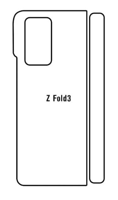 Hydrogel - matná zadná ochranná fólia - Samsung Galaxy Z Fold 3 5G