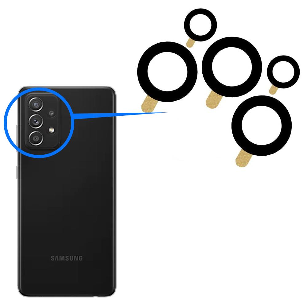 Náhradné sklo zadnej kamery - Samsung Galaxy A52 4G, A52 5G