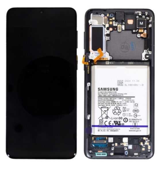 Original displej Samsung Galaxy S21+ SM-G996 Phantom Black + Baterie (Service Pack)