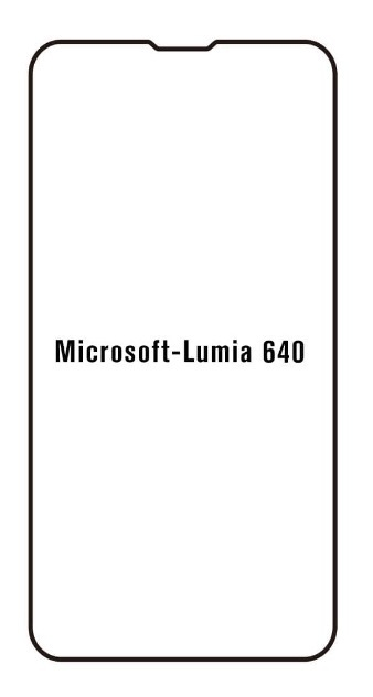 Hydrogel - matná ochranná fólia - Microsoft Lumia 640