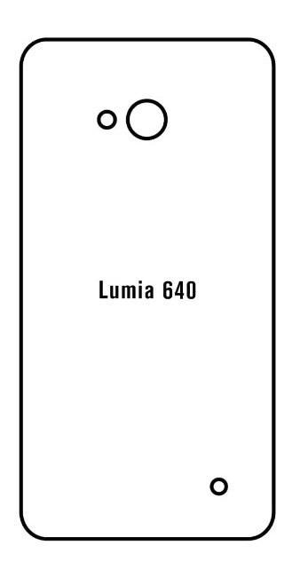 Hydrogel - matná zadná ochranná fólia - Microsoft Lumia 640