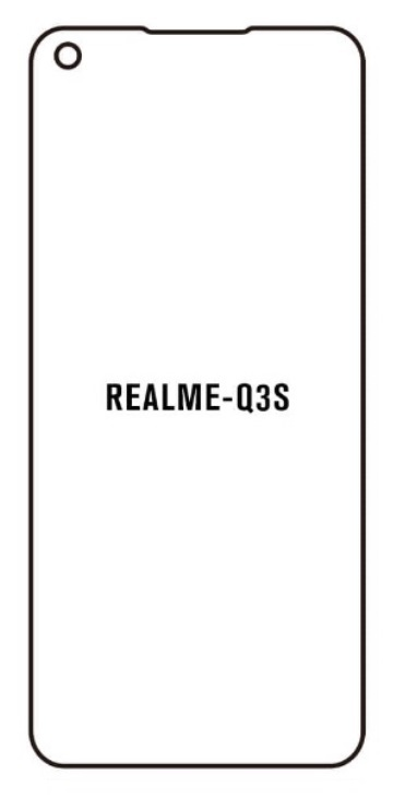 Hydrogel - matná ochranná fólia - Realme Q3s