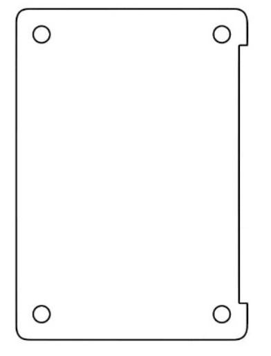 Hydrogel - ochranná fólia na spodnú stranu - MacBook Pro 13 (2016-2016)