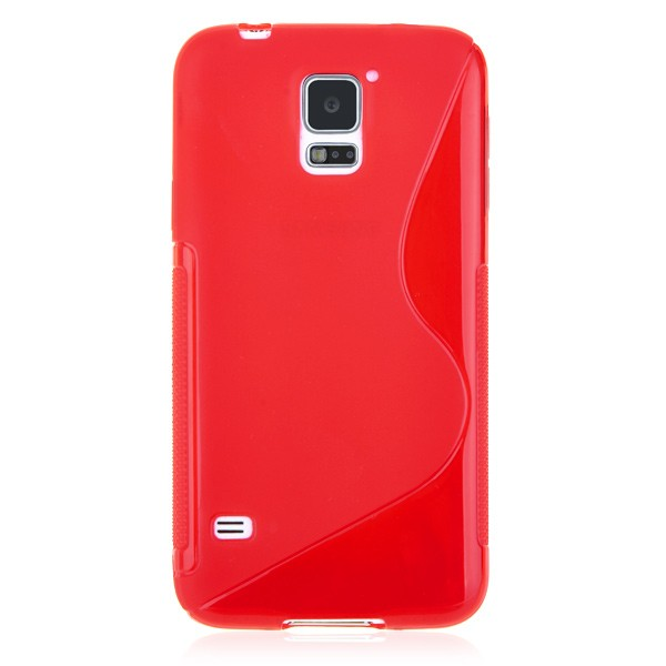 Fashion Style TPU Back Cover Red Samsung Galaxy S5