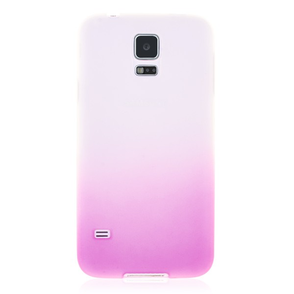 Solid Pink TPU Back Cover Samsung Galaxy S5