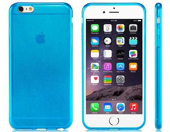 iCaseSilicone iPhone 6 Plus/6S Plus modrý
