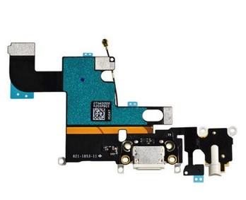 Apple iPhone 6 - Nabíjací konektor flex kábel s mikrofónom - biely