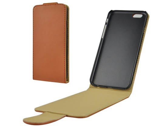 Faux Leather Flip Case iPhone 6/6S (Brown)