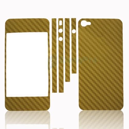 iCoverCarbon iPhone 4/4S - zlatá