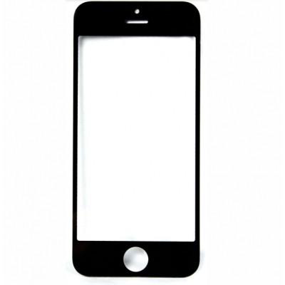 Apple Oleofóbne náhradné čierne predné sklo s rámom na iPhone 5S/SE