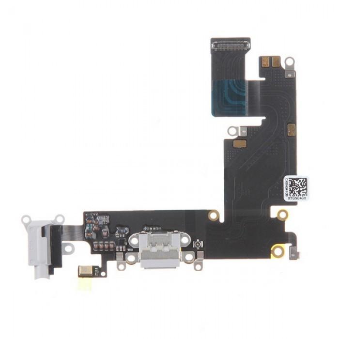Apple iPhone 6 Plus - Nabíjací dock konektor - audio konektor kábel s mikrofónom šedý ( Light Grey)