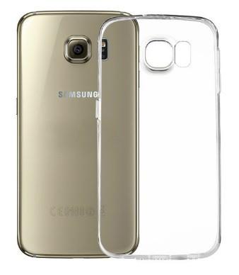 CaseSilicone Samsung Galaxy S6 EDGE - priesvitný