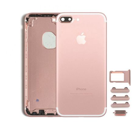 Zadný kryt iPhone 7 Plus ružový/ rose gold