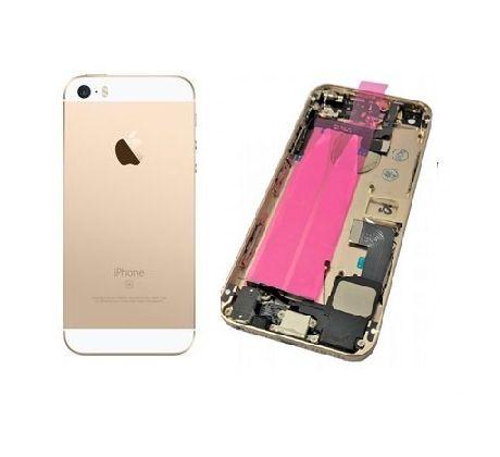 Akcia Doprava zadarmo iPhone SE - Zadný kryt - champagne gold   zlatá s  malými dielmi c58b91862e3