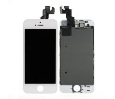 ORIGINAL Biely LCD displej iPhone 5S s prednou kamerou + proximity senzor OEM (bez home button)