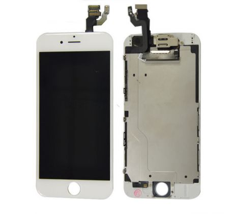 ORIGINAL Biely LCD displej iPhone 6 s prednou kamerou + proximity senzor OEM (bez home button)