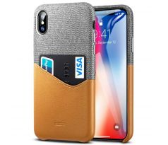 ESR Metro case CREDIT CARD iPhone X/XS hnedé