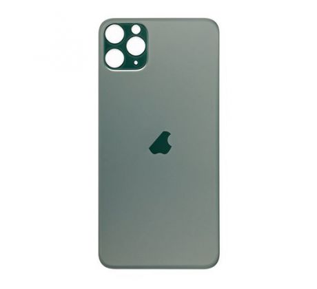 Apple iPhone 11 Pro - Sklo zadného housingu so zväčšeným otvorom na kameru BIG HOLE (Midnight Green)