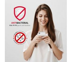 Forcell AntiBacterial kryt pre iPhone X/XS transparentný