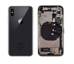 Apple iPhone XS - Zadný Housing - Space Gray s malými dielmi