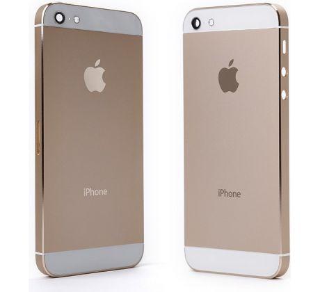 Akcia iPhone 5S - Zadný kryt - champagne gold   zlatá d0530a3f644